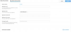 تنظیمات اپلیکیشن پایتون در سی پنل